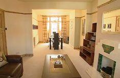 Homes - Design inspiration - art deco lounge diner 1930s Living Room, Art Deco Living Room, Style At Home, Lounge Diner Ideas, Bbc Home, Flat Ideas, Living Room With Fireplace, Tiled Fireplace, Fireplace Ideas