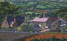 Charles Ginner 1878 - 1952(The Camden Town Group)  Clayhidon 1913
