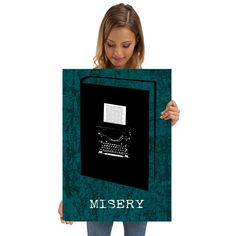 December Deal - Use code: SNOWMAN Buy 3-4 get 15% OFF   5+ 25% OFF. Misery Poster by Emily Pigou. #misery #minimal #book #poster #literature #bookworm #bookwormgifts #books #scifi #literature #novel #home #homegifts #freedom #livingroom #homedecor #gifts #family #discount #thriller #deals #shopping #xmas #christmas #xmasgifts #art #design #art #displate #sales #save #discount #giftsforhim #christmasgifts #giftsforher #39;s #fiction