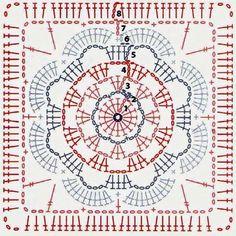 It is a website for handmade creations,with free patterns Art Au Crochet, Mandala Au Crochet, Crochet Motif Patterns, Crochet Circles, Crochet Blocks, Crochet Pillow, Square Patterns, Crochet Crafts, Crochet Flowers