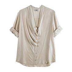 La Garçonne - Acne Jeans Bird Short Sleeve Blouse, found on polyvore.com