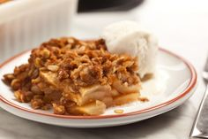 Learn to make easy apple crisp with a buttery, crunchy oat topping. Chowhound's recipe includes simple, step-by-step instructions, an ingredients list, and a...