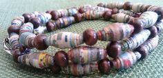 I've seen really cute paper bead necklaces at craft shows! All you need are magazines and glue!