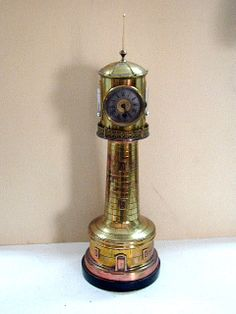 Very collectable antique lighthouse clock.