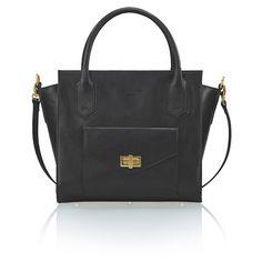 DANIELLA Black leather bag with pocket by ANNAMARIA PAP #luxurybag #luxury #handbag #leatherbag #leather #premiumbag #fashion #bag #designerbag #handmade