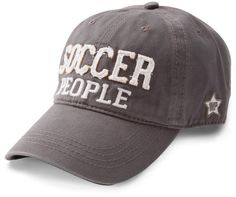 Soccer People by We People - Soccer People - Dark Gray Adjustable Hat