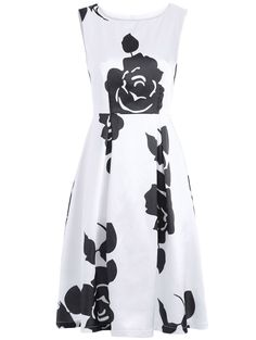 SHARE & Get it FREE | Vintage Floral Print Round Neck Sleeveless DressFor Fashion Lovers only:80,000+ Items • New Arrivals Daily • Affordable Casual to Chic for Every Occasion Join Sammydress: Get YOUR $50 NOW!