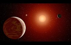Red Dwarf Stars, also known as M Stars, May Be Best Chance for Habitable Alien Planets. This artist's concept illustrates a young, red dwarf star surrounded by three planets. Such stars are dimmer and smaller than yellow stars like our sun, which makes them ideal targets for astronomers wishing to take images of planets outside our solar system, called exoplanets.