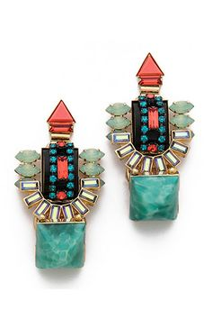 Elizabeth Cole Juniper Earrings, $285, available at Elizabeth Cole.
