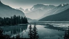 Banff National Park Canada Scenery Nature Mountain Trees Lake Wallpaper