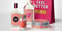 """""""Feel Better Self Aid Kit,"""" a cleverly designed package to help cure some common ailments. Designed by Alessia Olivari."""