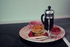 Opskrift: American pancakes med chokolade og banan