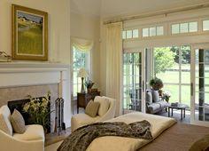 Enclosed patio off bedroom..great idea!