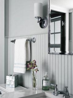 White Bathroom With Beadboard
