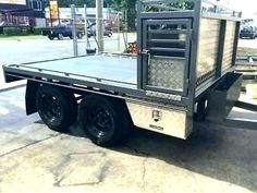 hunting tandem trailer - With dog boxes Work Trailer, Off Road Trailer, Trailer Build, Off Road Camper, Utility Trailer, Quad Trailer, Trailer Storage, Bike Trailer, Camping Gadgets