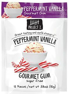 Project 7 Sugar Free Gum, Peppermint Vanilla, 12 count- $16.99