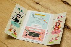 Wedding Invites - Caricature Style Invites | WedMeGood #wedmegood #weddinginvites #invites