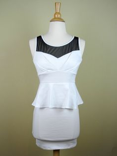 Off White Peplum Dress with Sweetheart Neckline - $36.00 : FashionCupcake, Designer Clothing, Accessories, and Gifts