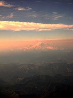Mount Rainier.Love this mountain. Hoping to be living somewhere where I can see it often!