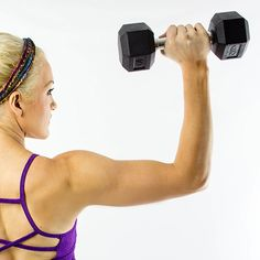 17 exercises for toned and sexy arms that you can do with a set of free weights. Use these simple dumbbell exercises for toned shoulders, biceps, and triceps.