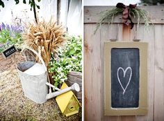 The pic in the right is the one I like for their wedding.  With a May wedding, my garden will not be bloomed out. Something like this would be cute against the brown stain othe fence. I think it needs more color in the flowers, though.