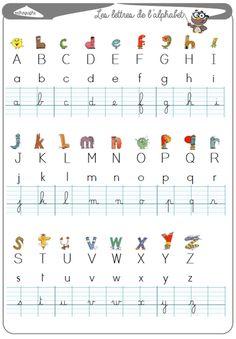 alphabet lesson – La Fouine en clis English, learn english as a child, ea… Learn French, Learn English, English English, Alphabet Cursif, Autism Education, French Lessons, English Lessons, Teaching French, Home Schooling