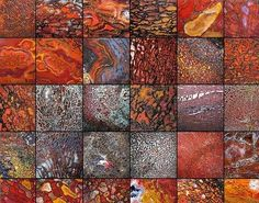 agatized bone | has put together a mosaic of shots of agatized dinosaur bone (bone ...