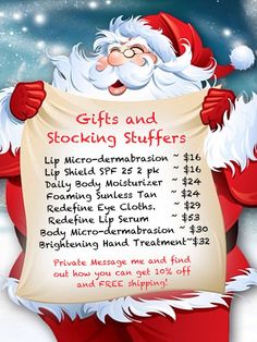 """""""MAKING A LIST AND CHECKING IT TWICE??""""  Add Rodan + Fields to your list of gifts to give OR to RECEIVE!  Private Message me and let's check some names off your list of gifts to buy! RODAN + FIELDS SKINCARE IS THE GIFT THAT KEEPS ON GIVING!! www.sandratoler.myrandf.com"""