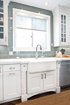Ice Grey Glass Subway Tile Kitchen Backsplash   Decor It Darling