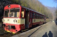 Motorový vůz řady 810 Vlakové nádraží Křivoklát  #vlak #křivoklát