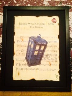 Doctor who, Tardis, sheet music wall art, Ron Grainer, geek chic art, home decor, A4/A3, gift ideas. on Etsy, $17.60