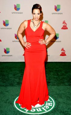 Dascha Polanco at 2014 Latin Grammy Awards Red Carpet Arrivals. Dascha Polanco at 2014 Latin Grammy Awards Red Carpet Arrivals Actress Dascha Polanco attends the 15th Annual Latin GRAMMY Awards at the MGM Grand Garden Arena on November 20, 2014 in Las Vegas, Nevada. The Orange is the New Black star leaves the prison scrubs behind for this clingy, red hot frock.