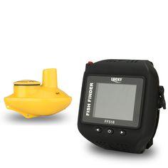 Lucky Brand Fish Finder Wireless Wrist Watch Waterproof Built-in Battery Sonar Detection 180ft/60m Fishing Watch FF518