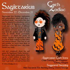 Goth Zodiac: Sagittarius by Trellia.deviantart.com on @DeviantArt