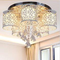 Top Children Ceiling Lights Led E27 110V-220V Home Lighting Modern Crystal Ceiling Lamp Living Room Dining Room Ceiling Light