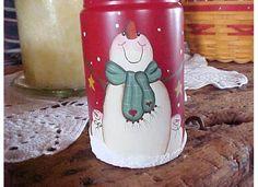 Candle jar Mason Jar Projects, Mason Jar Crafts, Mason Jar Diy, Bottle Crafts, Christmas Mason Jars, Christmas Snowman, Christmas Decor, Christmas Ideas, Christmas Ornaments