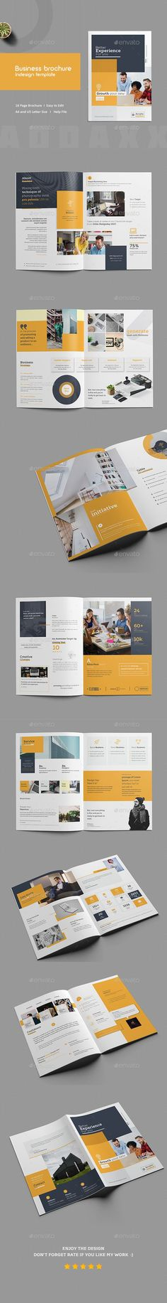 Business Brochure InDesign Template — InDesign INDD #us letter #professional • Download ➝ https://graphicriver.net/item/business-brochure-indesign-template/21764777?ref=pxcr