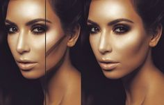 EXPOSED! KIM KARDASHIAN AND THE MAGIC LINE! (+playlist)   Highlighting and contouring important.  contour more than I highlight.