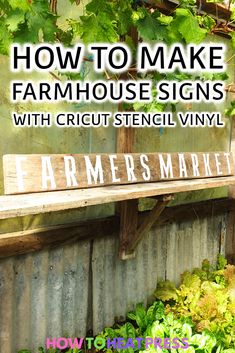 We're using Cricut stencil vinyl to make a DIY farmhouse sign. Here is how to make a stencil with Cricut and apply it to wood! Cricut Stencil Vinyl, Cricut Heat Transfer Vinyl, Cricut Iron On Vinyl, Stencil Diy, How To Use Cricut, How To Make Stencils, Cricut Tutorials, Cricut Ideas, Vinyl Tumblers