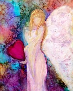 Angel Artwork, Angel Paintings, Angel Pictures, Alcohol Ink Painting, Art Abstrait, Pictures To Paint, Ink Art, Painting Inspiration, Painting & Drawing