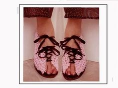 ▶ CROCHET PATTERN, PINK LACE UP SUMMER SANDALS, How to diy, any size - YouTube