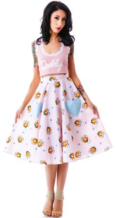 Hell Bunny So Foxy Skirt   Dolls Kill