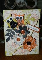 "The Owl Builder Punch and the Secret Garden Stamp Set and matching Framelit Dies make for a fun ""Ghoul""friend card. Happy Crafting!~ Dee"
