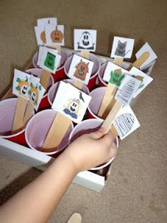 Three Ghost Friends Halloween Sort Three Ghost Friends Halloween Sort can be used as a toddler busy bag, shoe box task activity, work b. Sorting Activities, Toddler Activities, Educational Activities, Sorting Games, Autism Classroom, Special Education Classroom, Halloween Activities For Kids, Halloween Fun, Toddler Halloween