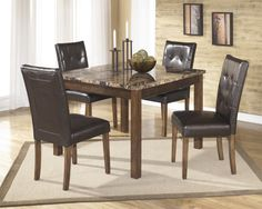 Warm Brown 5pc Dining Set **come by our store for lower prices and better deals**
