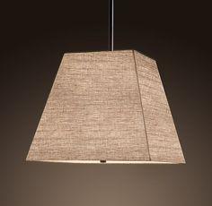 Square Linen Shade Pendant