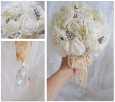 Working for Carrots: How to Make a Bridal Bouquet ~ Vintage Style ~ Tutorial
