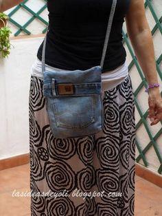 DIY, Bolsos  con vaqueros reciclados.