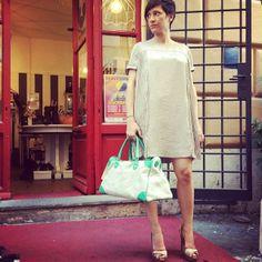 #dress#pringleofscotland, #shoes#missoni, #bag#almala