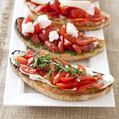 Our Tomato Bruschetta with Ricotta and Basil is the perfect addition to any meal.